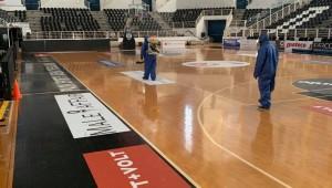 Απολύμανση στο PAOK Sports Arena (pics)