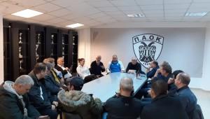 Ο Ηλίας Παυλίδης στα γραφεία του ΠΑΟΚ