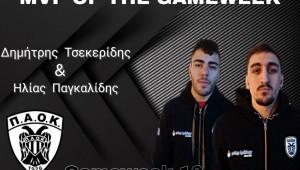 MVP της αγωνιστικής εβδομάδας οι Δημήτρης Τσεκερίδης και Ηλίας Παγκαλίδης!