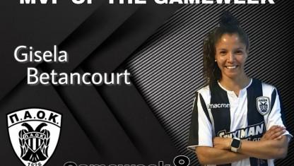 MVP της αγωνιστικής εβδομάδας η Gisela Betancourt!