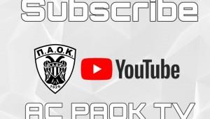 Κάνε εγγραφή στο AC PAOK TV, δε κοστίζει τίποτα, σημαίνει πολλά!