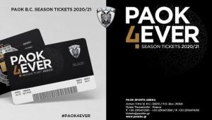 ΚΑΕ ΠΑΟΚ: Άρχισε η διάθεση των εισιτηρίων διαρκείας για την αγωνιστική περίοδο 2020-2021.
