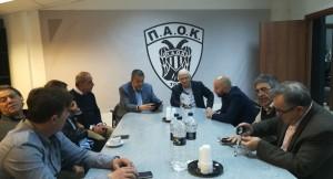 Επίσκεψη του υποψήφιου Δημάρχου κ. Νίκου Ταχιάου στα γραφεία του Α.Σ. ΠΑΟΚ.