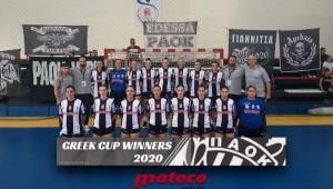 ΠΑΟΚ Mateco: Κυπελλούχος Ελλάδος 2020