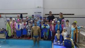 Ο Γιάννης Στάμος στην Ακαδημία Κολύμβησης στην Πισίνα Τούμπας!