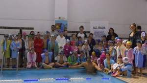 Ο Ολυμπιονίκης Ταϊγανίδης επισκέφθηκε την Ακαδημία Κολύμβησης Τούμπας!