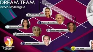 Στην κορυφαία επτάδα της 5ης αγωνιστικής της Volleyleague γυναικών οι Πολυνοπούλου-Kubura!