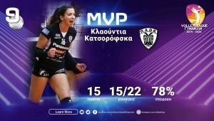 Η Κλαούντια Καζορόφσκα MVP…η Κωνσταντινίδου ξεχώρισε