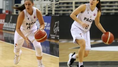 Δύο αθλήτριες του ΠΑΟΚ στην Εθνική Μπάσκετ γυναικών