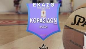 Το πρόγραμμα της Β Φάσης μπάσκετ κορασίδων