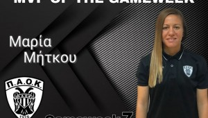 MVP της αγωνιστικής εβδομάδας η Μαρία Μήτκου!